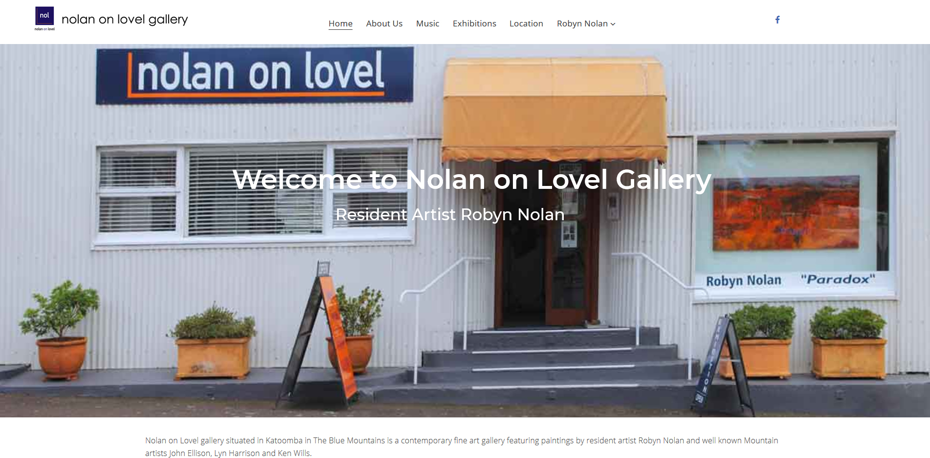 Nolan on Lovel Gallery Katoomba