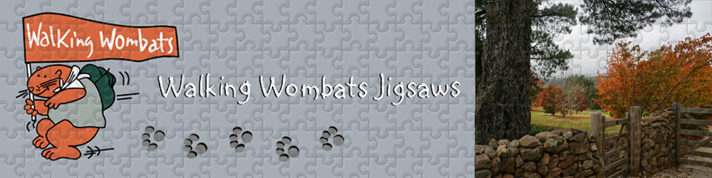 Logo Design - Walking Wombats Jigsaws