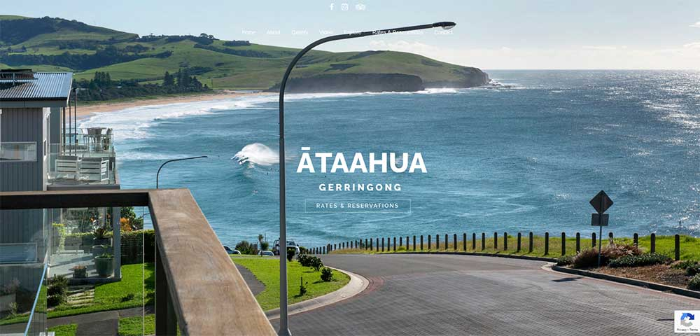 Tara Whitie latest website design for Ataahua Gerringong
